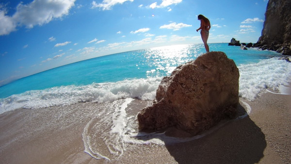 Egremni beach Lefkas