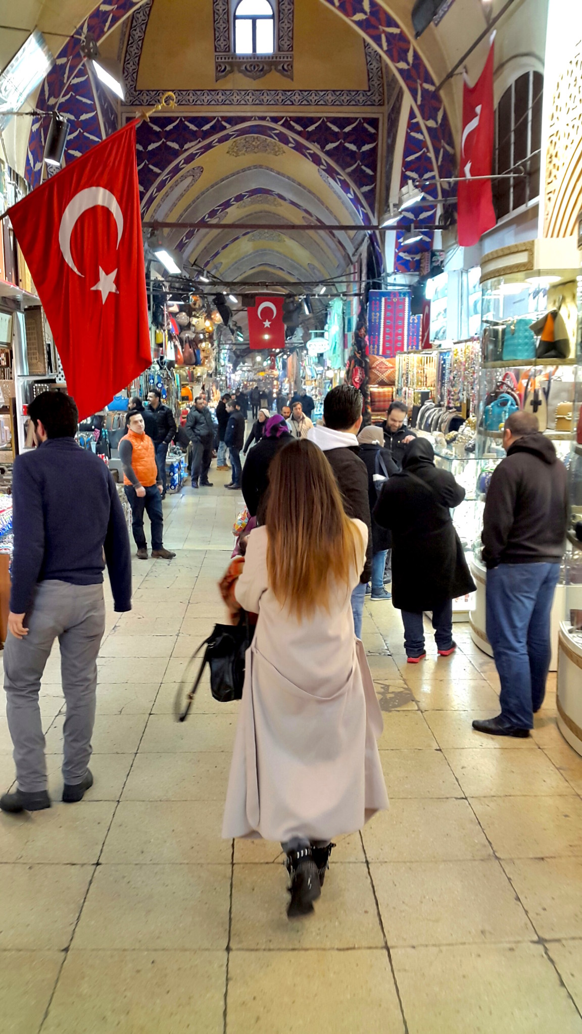 Walking through the grand Bazaar Istanbul