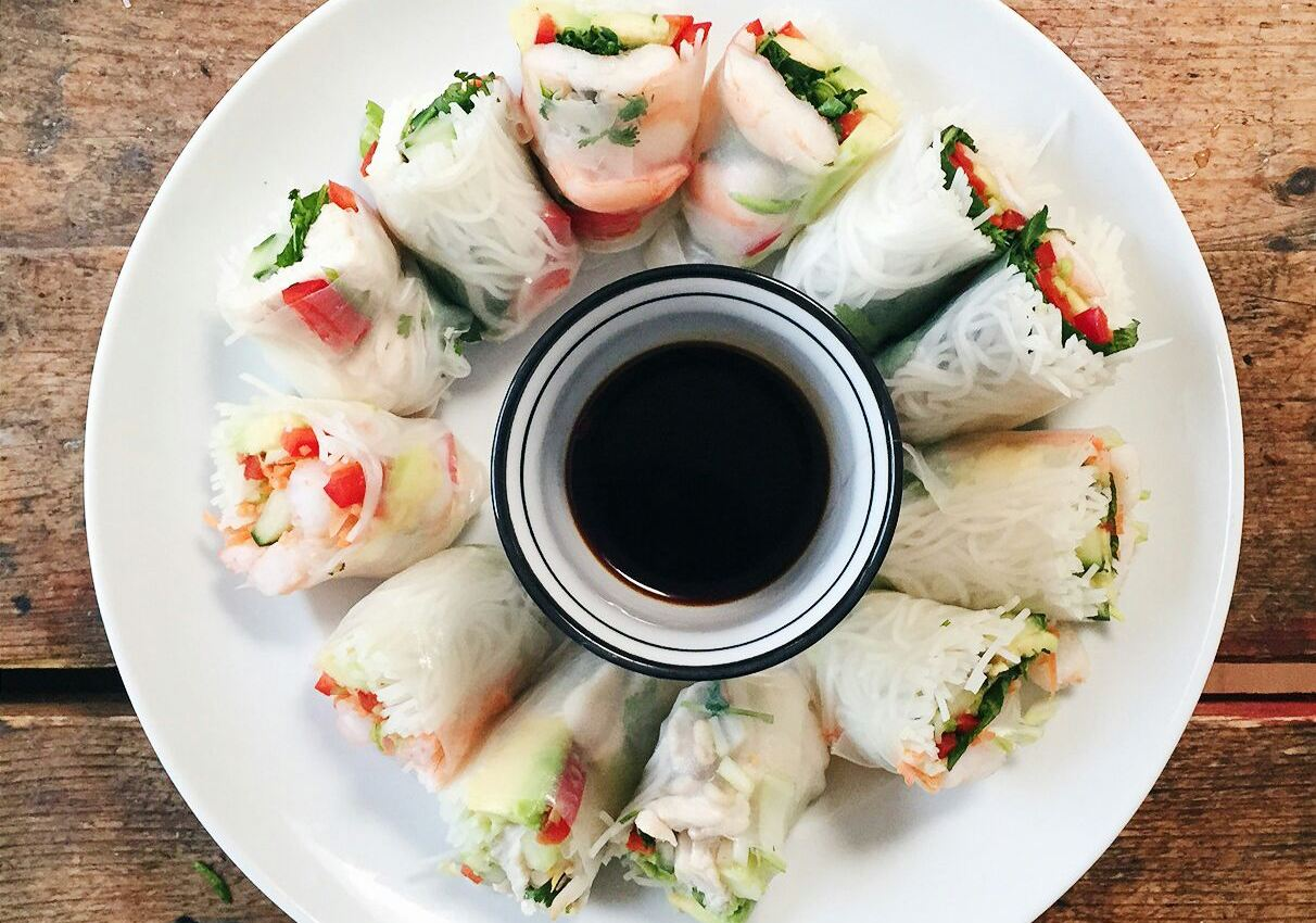 Recipe » Fresh healthy Vietnamese Spring rolls