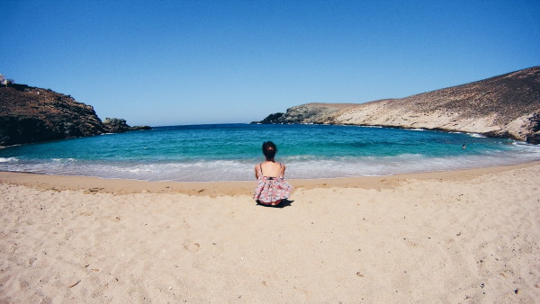 Mykonos has some quiet beaches