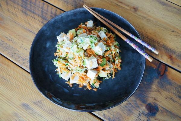 finished Japanese tofu salad