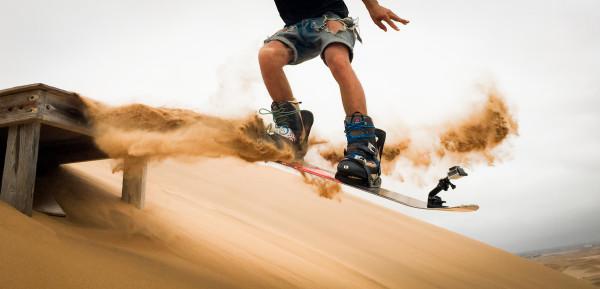 Yolan Post Sand boarding in Namibia