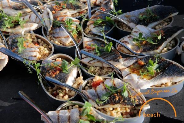 food at blooming beach