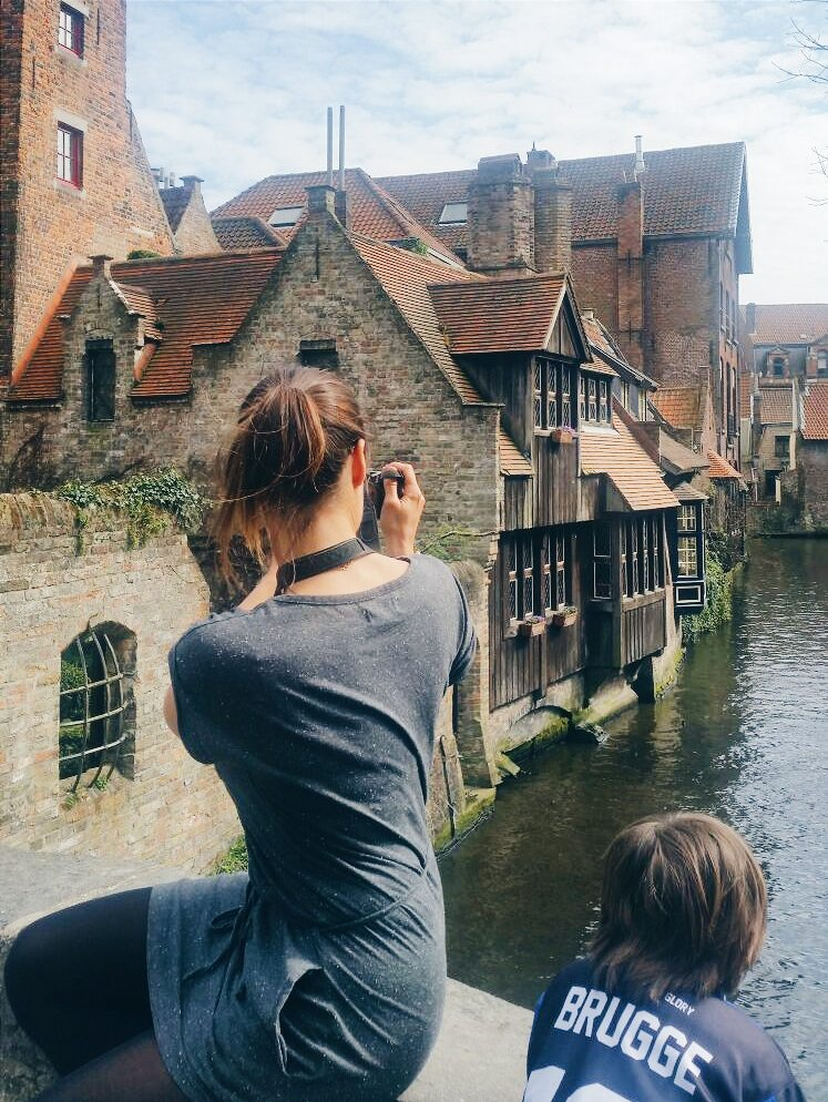 Ghent and Bruges. Elke in Bruges