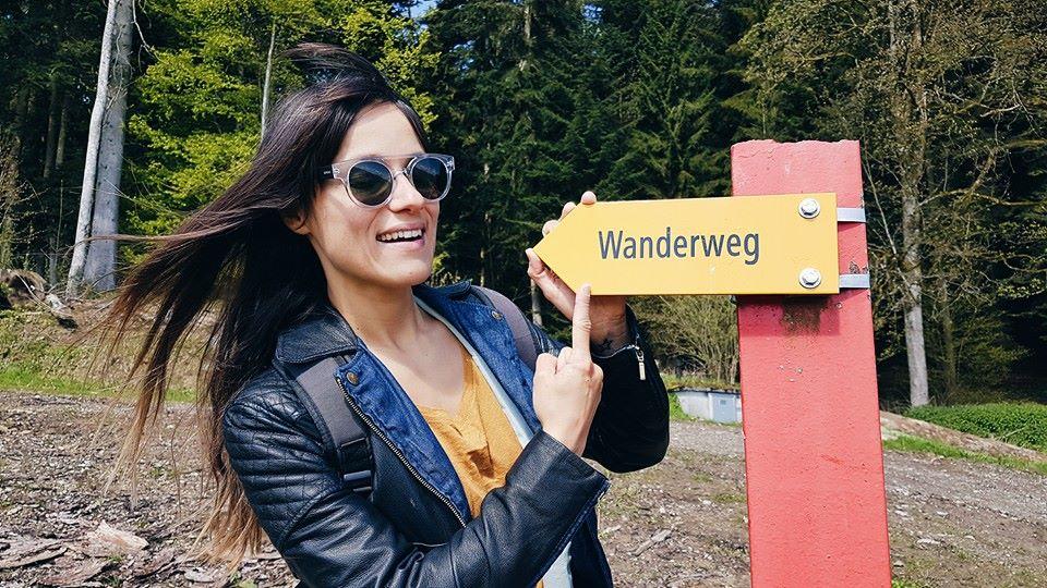 Wanderweg sign Switzerland