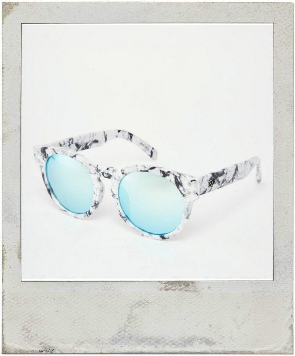 Quay, High Emotion Round Marble sunglasses