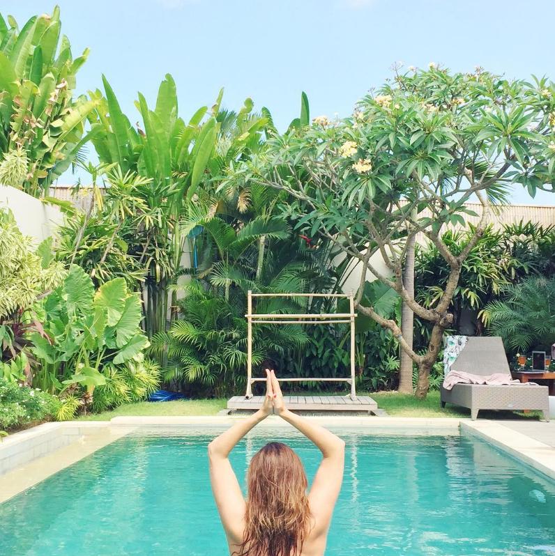 Anne de Buck in Bali