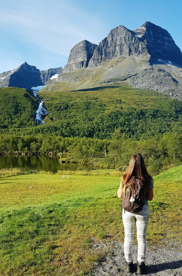 Girl standing in Norway