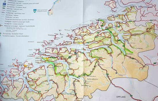 Route through North West Norway