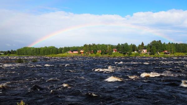 Rainbow in Kukkolaforsen