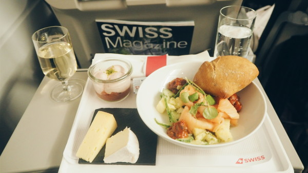 Business Class food at Swiss