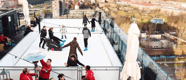 Floor 17 ice skating