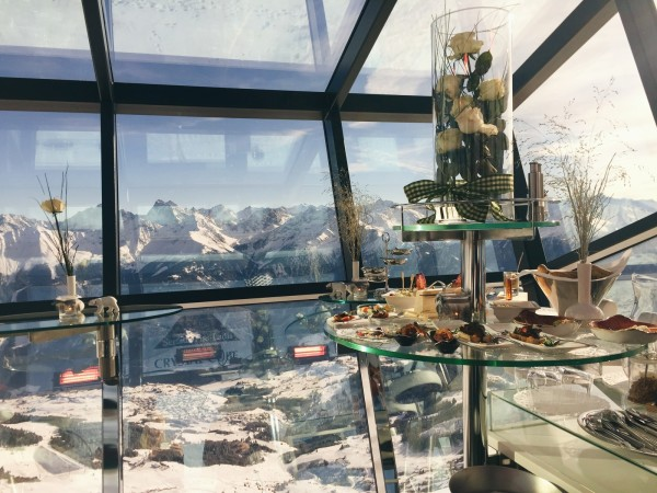 Lunch at the Crystal Cube in Fiss-Ladis