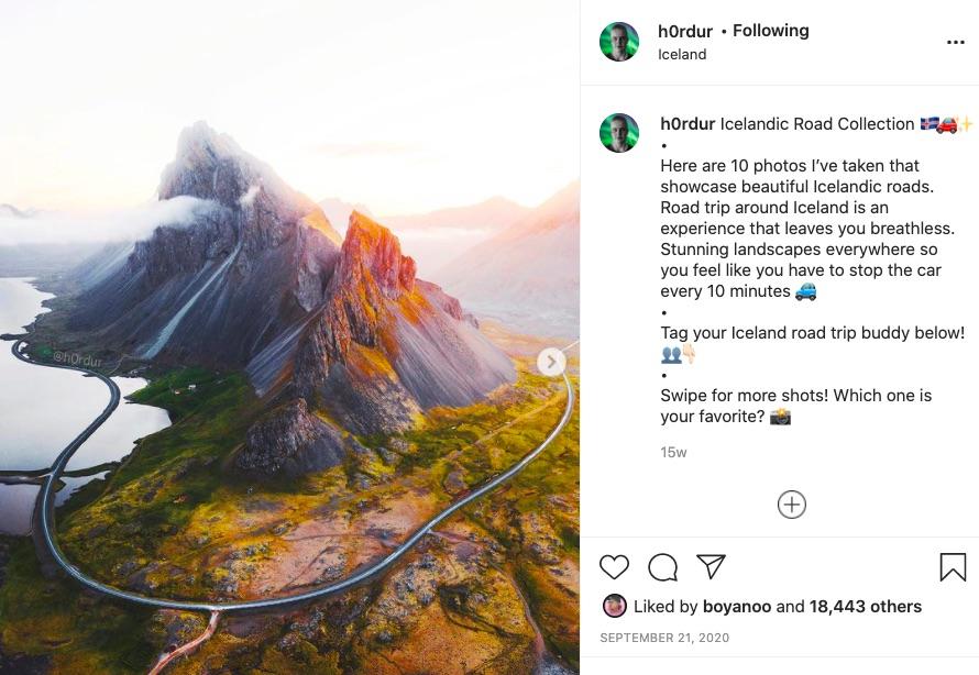 Instagram account Hordor