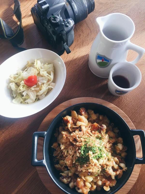 Lunch break in Kitzbuhel