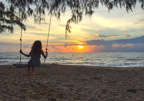 Sunsets in Krabi Thailand,