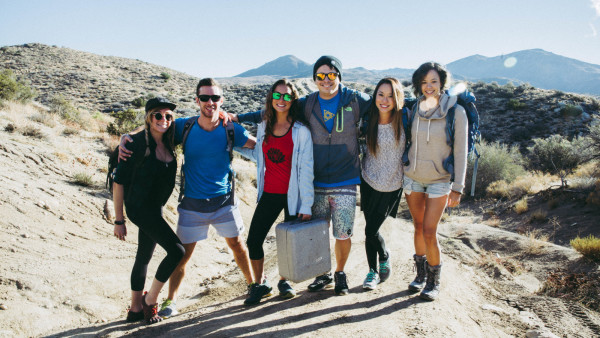 group-shot-hiking Deep Creek California