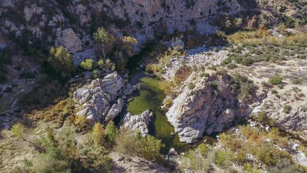 Deep Creek Hot Springs, in-the-ravine