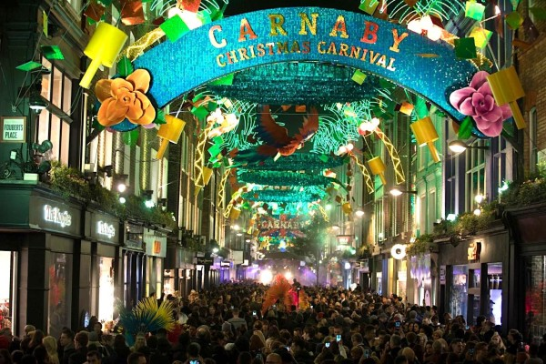carnaby-st, Christmas in London