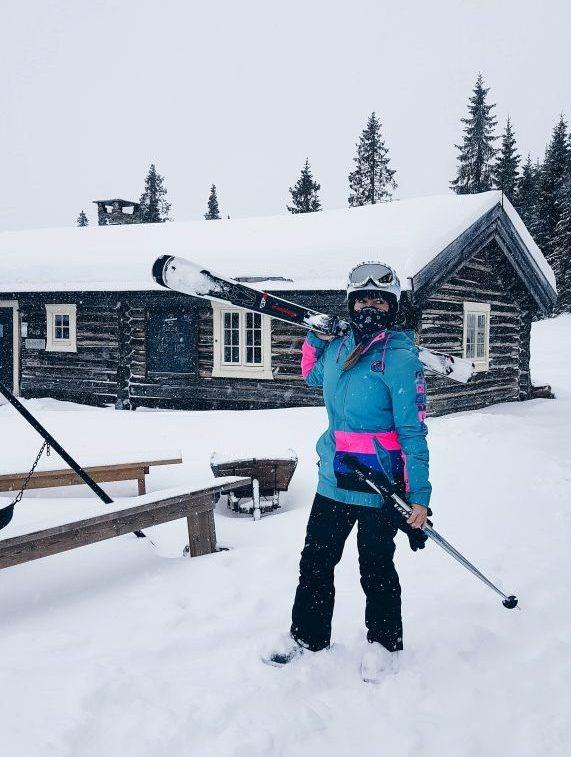 Skiing in Kvitfjell, Norway