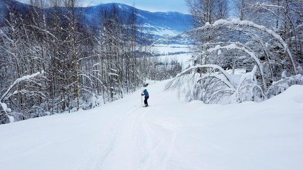 Stunning paths in Kvitfjell