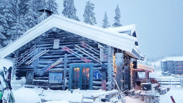 Old log house in Kvitfjell