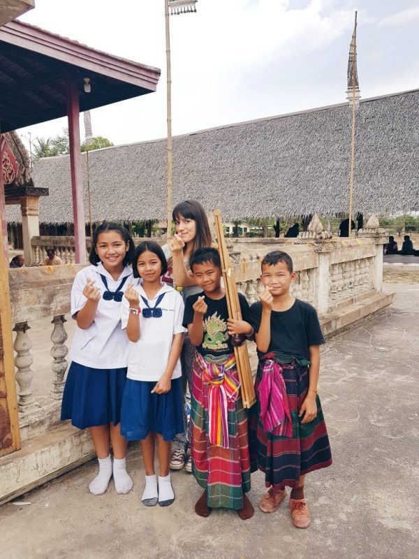 Meeting the local children