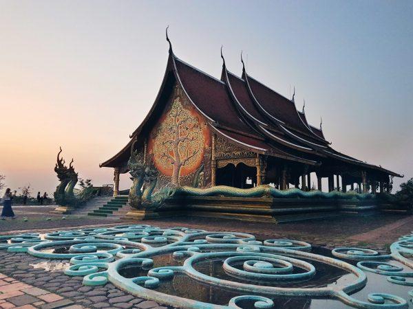 Illuminate temple, Thailand