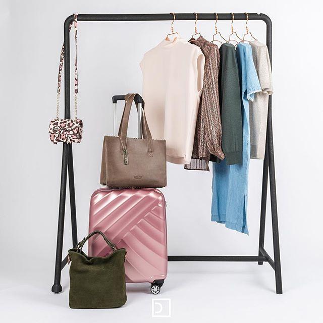 Duifhuizentassen en koffers