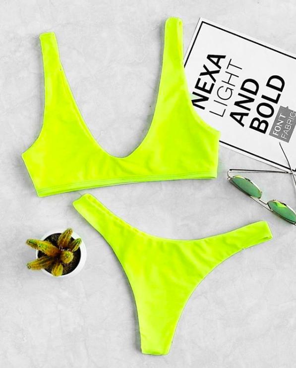 Neon Swimwear trends 2019