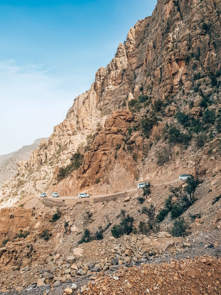 Driving though the mountains on Oman