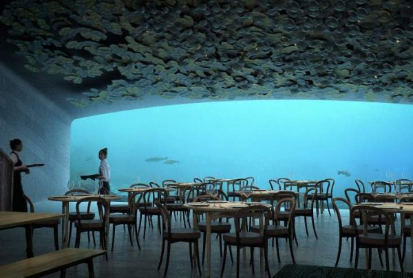 Norway just opened up the largest underwater restaurant, Under.