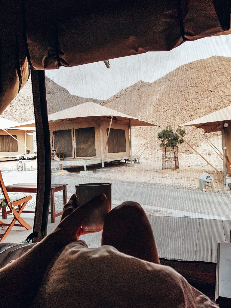 Luxury view from tent Oman