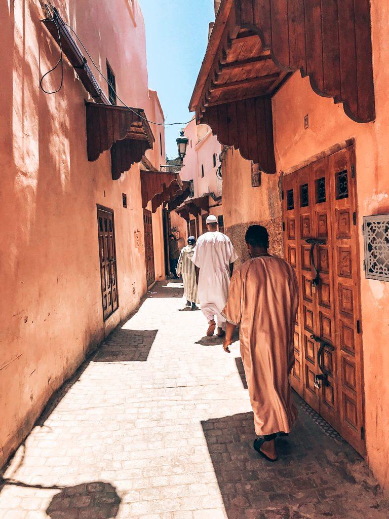 Walking around in Marrakech