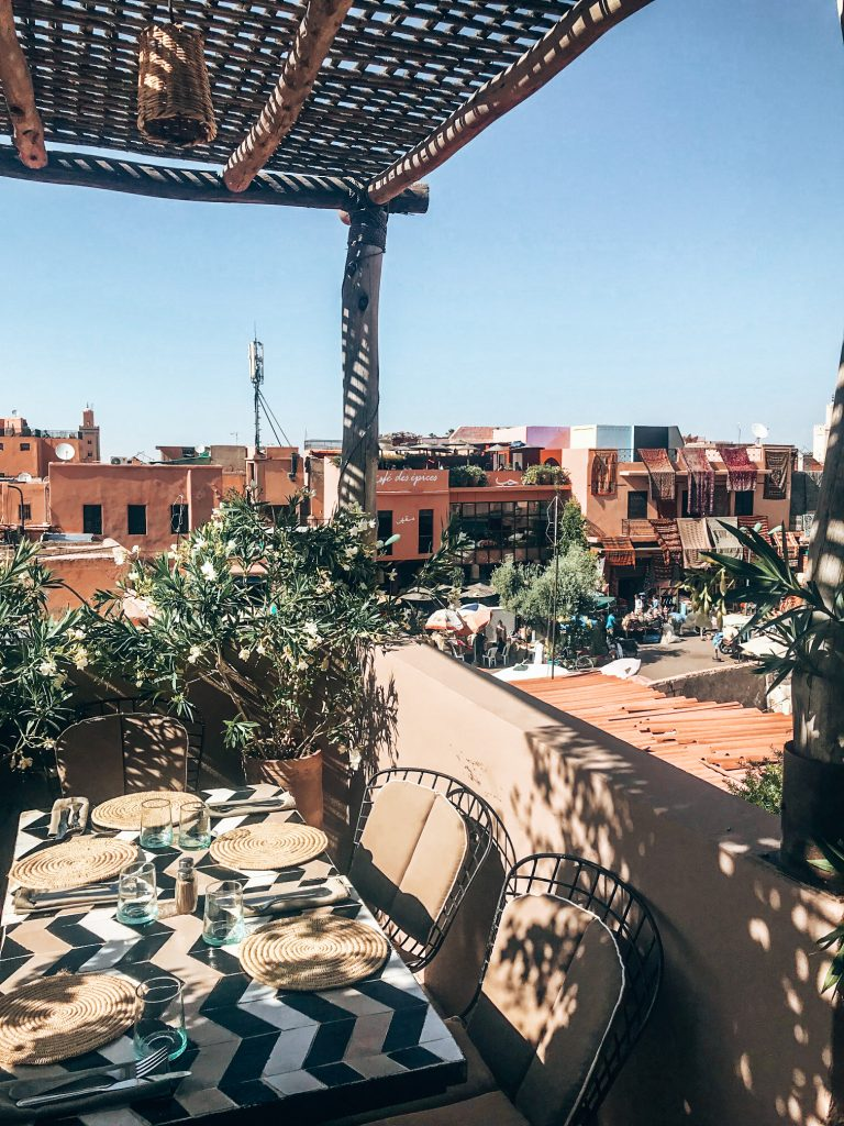 Rooftop bar Marrakech