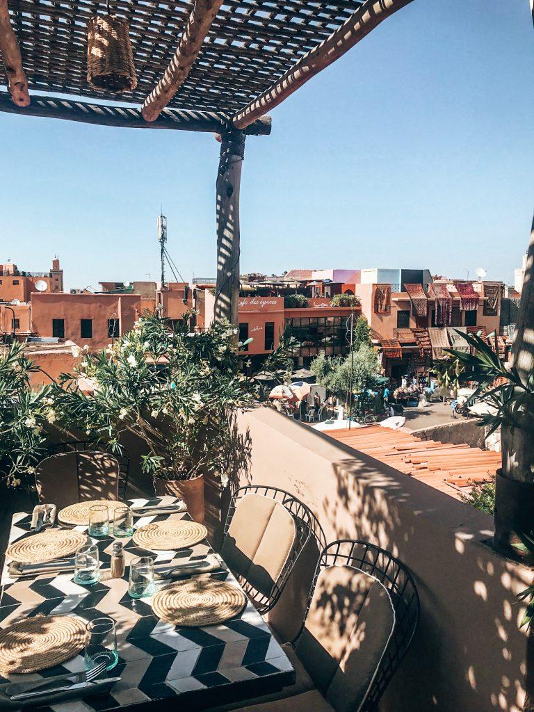 Rooftop bar Marrakech