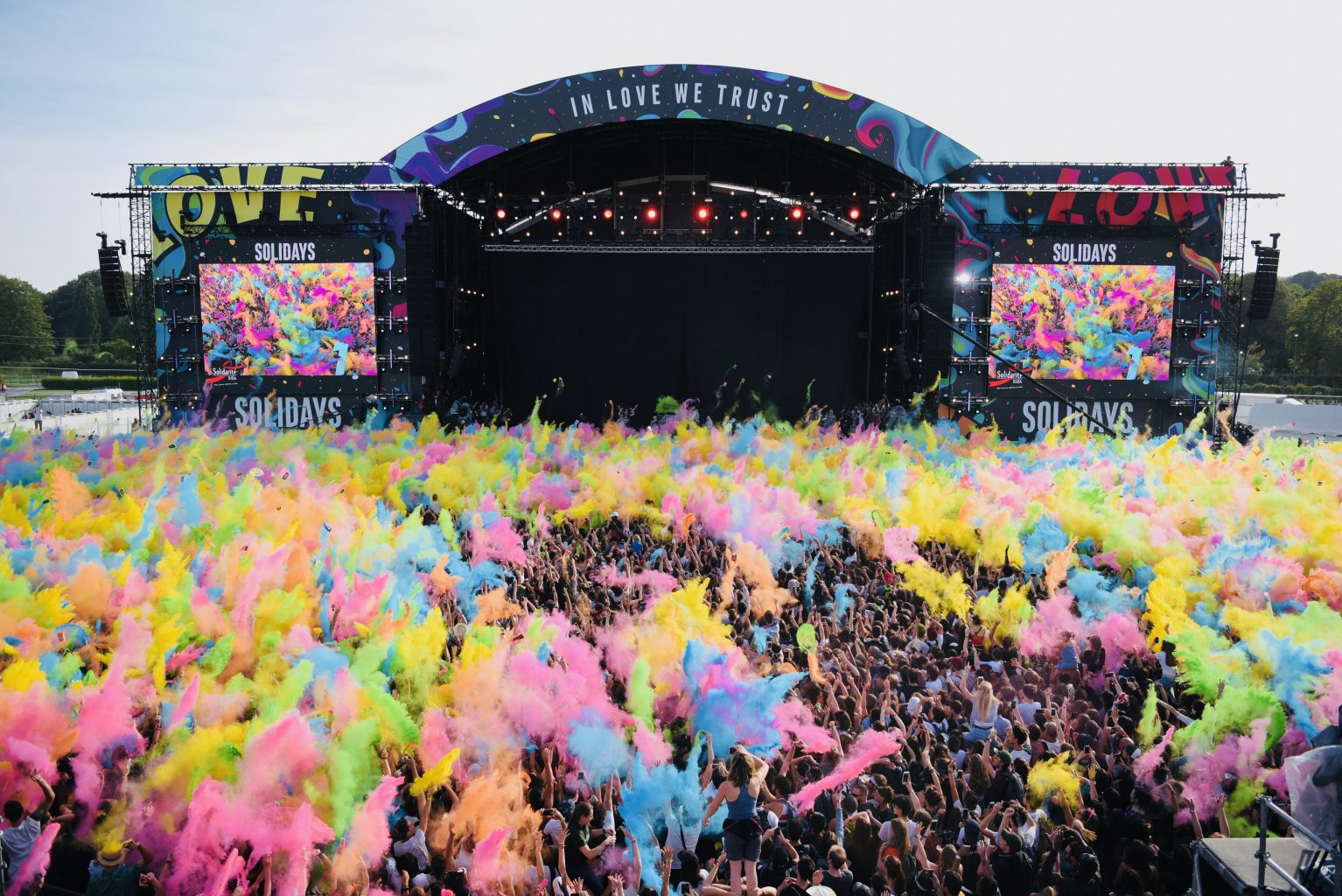 Solidays festival in Paris