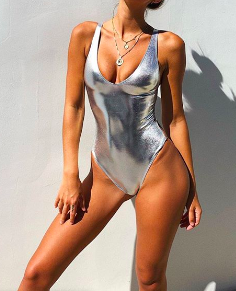 Metallic swimwear