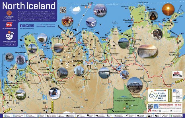 North Iceland map