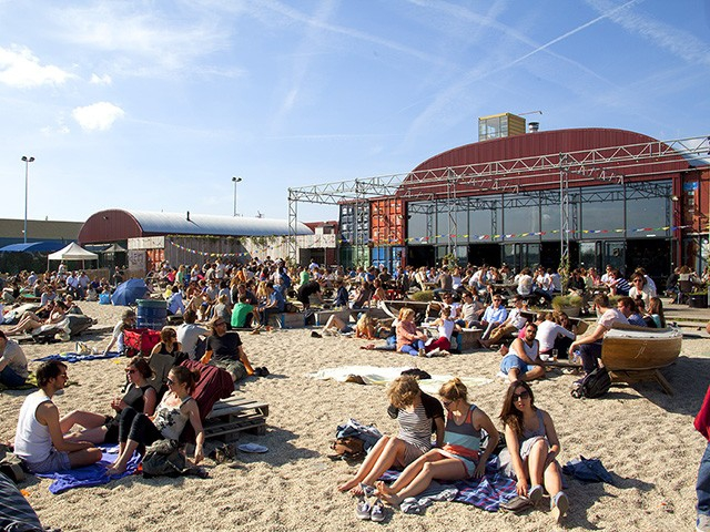 Pllek city beach Amsterdam