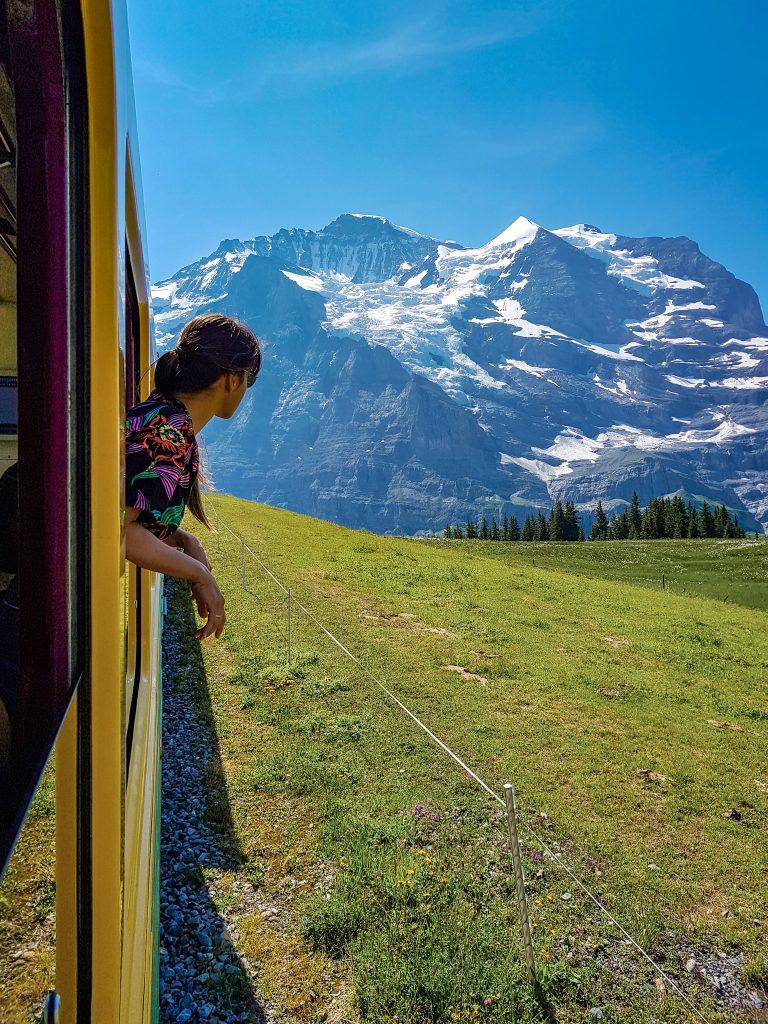 Train Lauterbrunnen Switzerland
