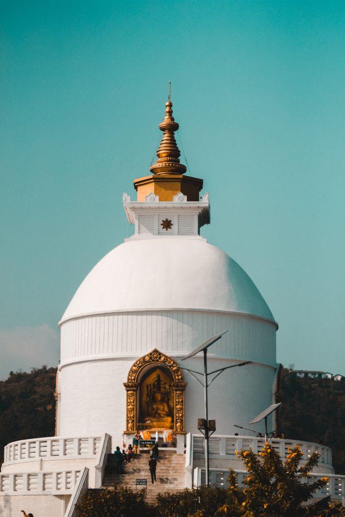peace pagoda, Pokhara, Nepal