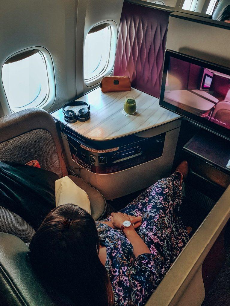 Business Class seat Qatar Airways