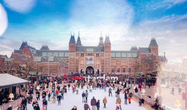 People Ice-Skating museumplein