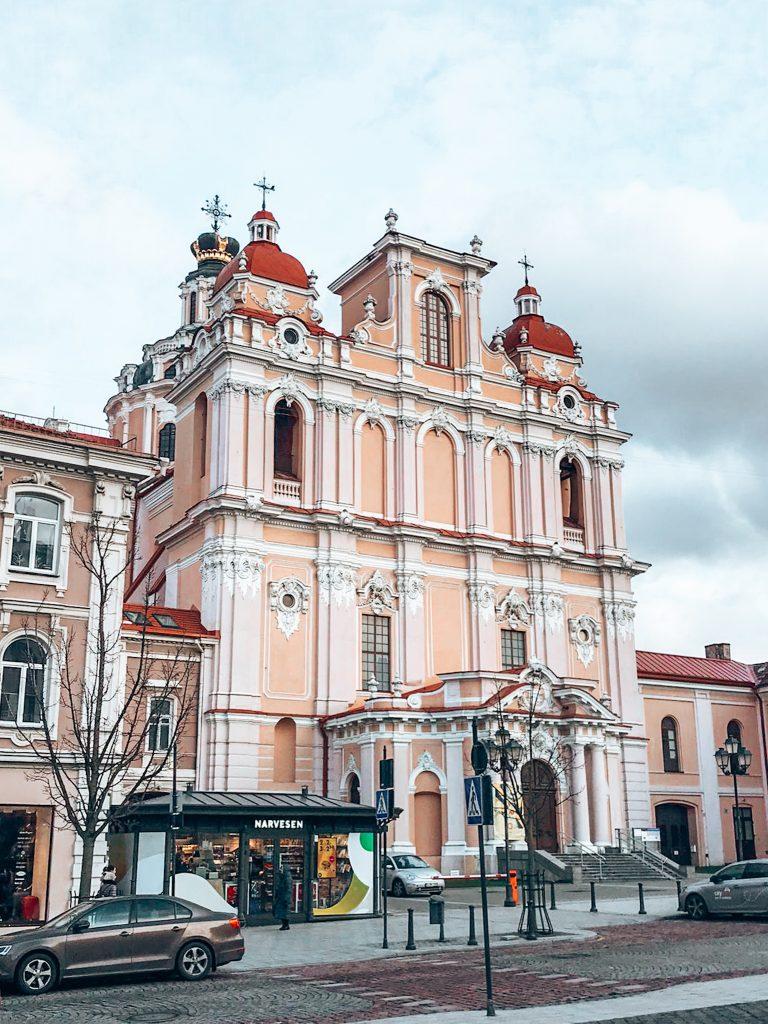 Pink Building Vilnius