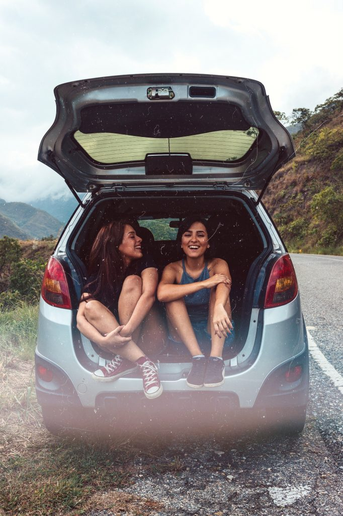 Girls on road trip