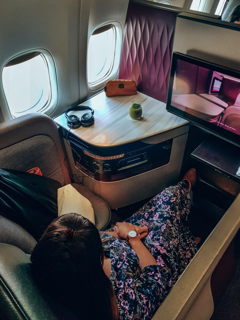 Business Class seat Qatar Airways