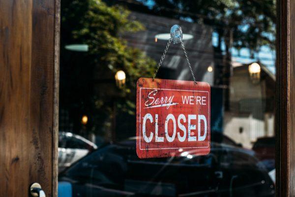 Closed shop Barcelona during lockdown