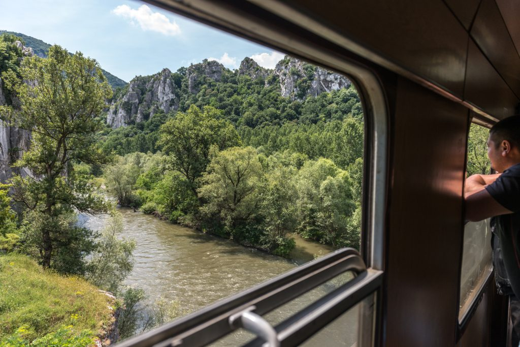 Interrail train Bulgaria