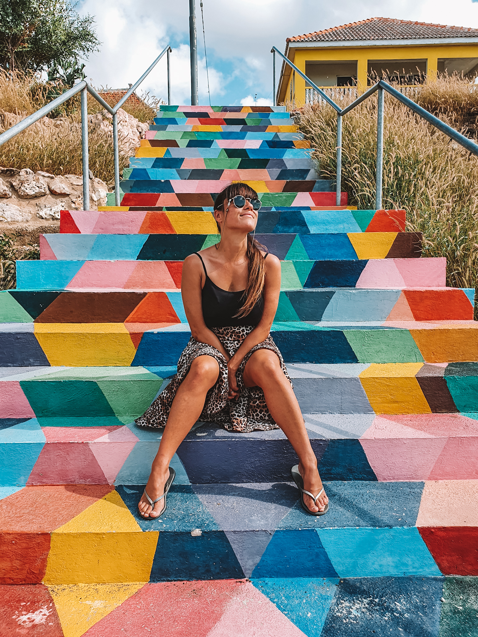 Colourful stairs Curaçao